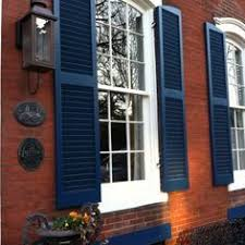 brick house with navy shutters google search curb appeal