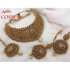 bridal jewelry gold plated bridal jewellery set at rs 1768 set bridal