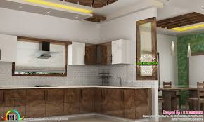 dining kitchen living room interior designs kerala home design