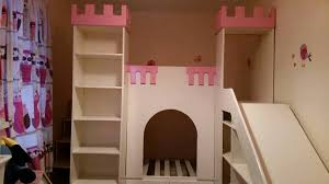 Princess Castle Bunk Bed Bespoke Princess Castle Bunk Bed With Stairs Case And Slide In