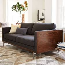 living room wood frame sofa with cushions loose replacement