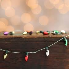 miniature light bulb garland miniatures