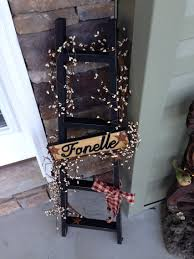 personalized primitive ladder home decor custom home home decor