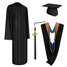 black graduation cap and gown shiny black bachelor graduation cap gown tassel