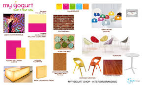 Interior Design Material Board by My Yogurt Frozen Yogurt Store Downtown San Diego Ca Mindful