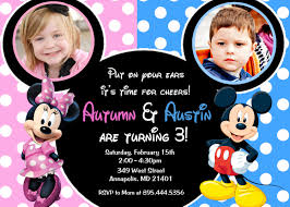 mickey mouse party invitation wording free printable invitation