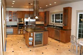gorgeous stone kitchen floor ideas dark brown stone flooring for