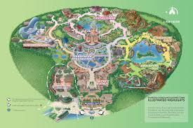 Disney Map Park Review Shanghai Disneyland Shanghai China