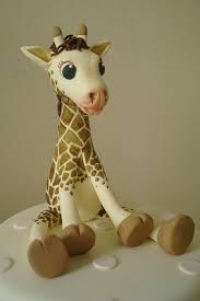 giraffe cake topper fondant giraffes fondant giraffe cake decorating community