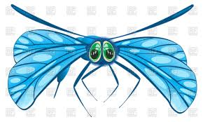 cartoon dragonfly front view vector clipart image 91251 u2013 rfclipart