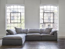 Grey Linen Sofa by Truman Sectional Sofa In Grey Linen Andrew Martin