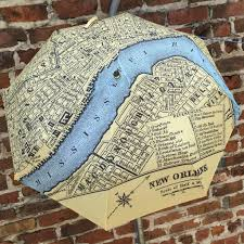 New Orlean Map by Umbrella Nola Map Compact 42