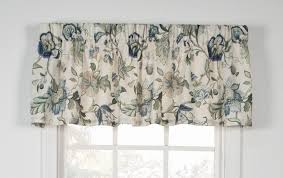 Blue Valance Curtains Brissac Curtain Collection Jacobean Floral Window Toppers