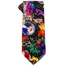 mardi gras tie print ties
