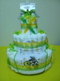 looney tunes diaper cake great as a gift for any baby shower