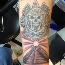 16 aztec pyramid tattoos