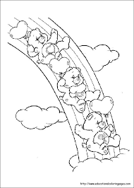 carebears coloring pages free kids crafty 80 u0027s care bears