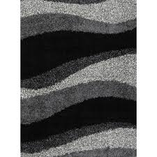 Modern Design Rug Rugs Curtains Contemporary Black And Gray Shag Rug For Dazzling