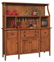 Cottage Kitchen Hutch Amish Shaker Country Hutch Buffet Server China Cabinet Solid Wood