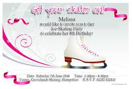 ice skating birthday invitations plumegiant com