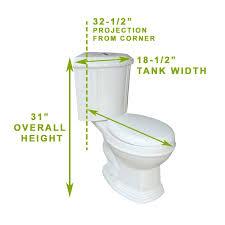 Eljer Corner Toilet Small Corner Toilet Dimensions Toilets Decoration