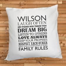 Family House Rules by Personalised Family Rules Cushion Treat Republic