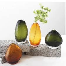 Decorative Glass Stones For Vase Nordic Country Modern Art Frosted Glass Vase Decoration Design