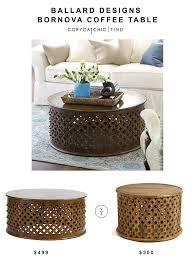 Carved Coffee Table Ballard Designs Bornova Coffee Table Copycatchic