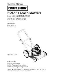 craftsman lawn mower 917 385142 user guide manualsonline com