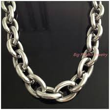 big chain necklace images 8 quot 40 quot huge heavy jewelry men 39 s 316l stainless steel silver big o jpg
