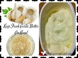 fresh garlic butter homemade handy kitchen tip
