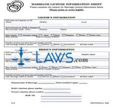 form marriage license worksheet florida forms laws com