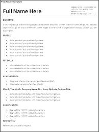 time resume templates resume resume templates college