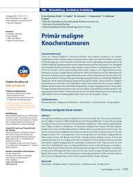 K Hen G Stig Online Planen Primary Malignant Bone Tumors Pdf Download Available