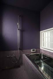 purple bathroom ideas purple bathroom design with metal bathtub and white window purple