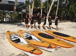 kayak and stand up paddle board at charisma beach resort siquijor