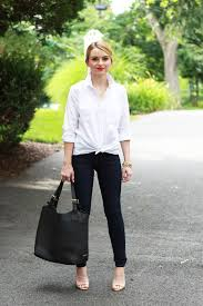 20 ways to style the classic white button down the everygirl
