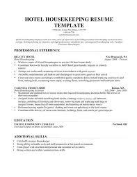 resume housekeeping position professional resumes sample online