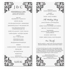wedding program format exles one page wedding program template best template exles
