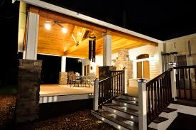 cedar deck covered porch trex deck outdoor living remodel
