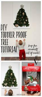 diy toddler proof tree tutorial