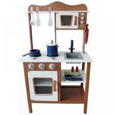 Pretend Kitchen Furniture Wooden Kids Toy Pretend Kitchen Playset Childrens Role Play Cooker