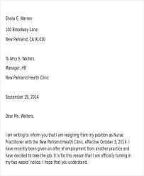 42 sample resignation letter template free u0026 premium templates