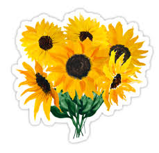 sunflower bouquet painted sunflower bouquet stickers by ilze lucero redbubble