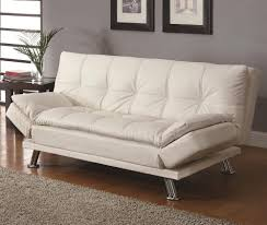 Sleeper Sofa Beds Affordable Modern Sleeper Sofa Coaster In White Homebnc Living