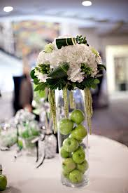 wedding reception centerpieces ivory green and black wedding reception centerpiece