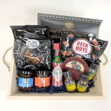 travel gift basket assorted food products in a wood tray s day gift set