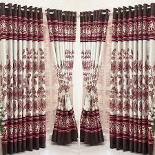 Maroon Curtains Floral Premium Curtains Online At Furnishvilla Com