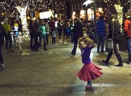lighting stores fort collins a little dances on the oak street plaza during the lighting