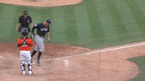 yankees aaron judge hits first spring home run mlb com